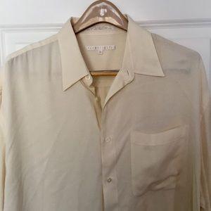 Perry Ellis silk shirt sleeved shirt